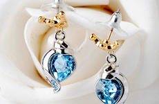 韓版水晶飾品 高檔時尚耳環 真金保色