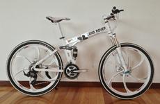 超美利达山地自行车一体轮山地车折叠车