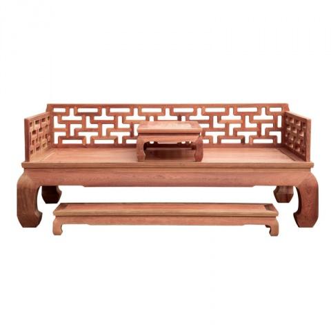 红木家具仿古中式实木床榻休闲榻床八宝罗汉床