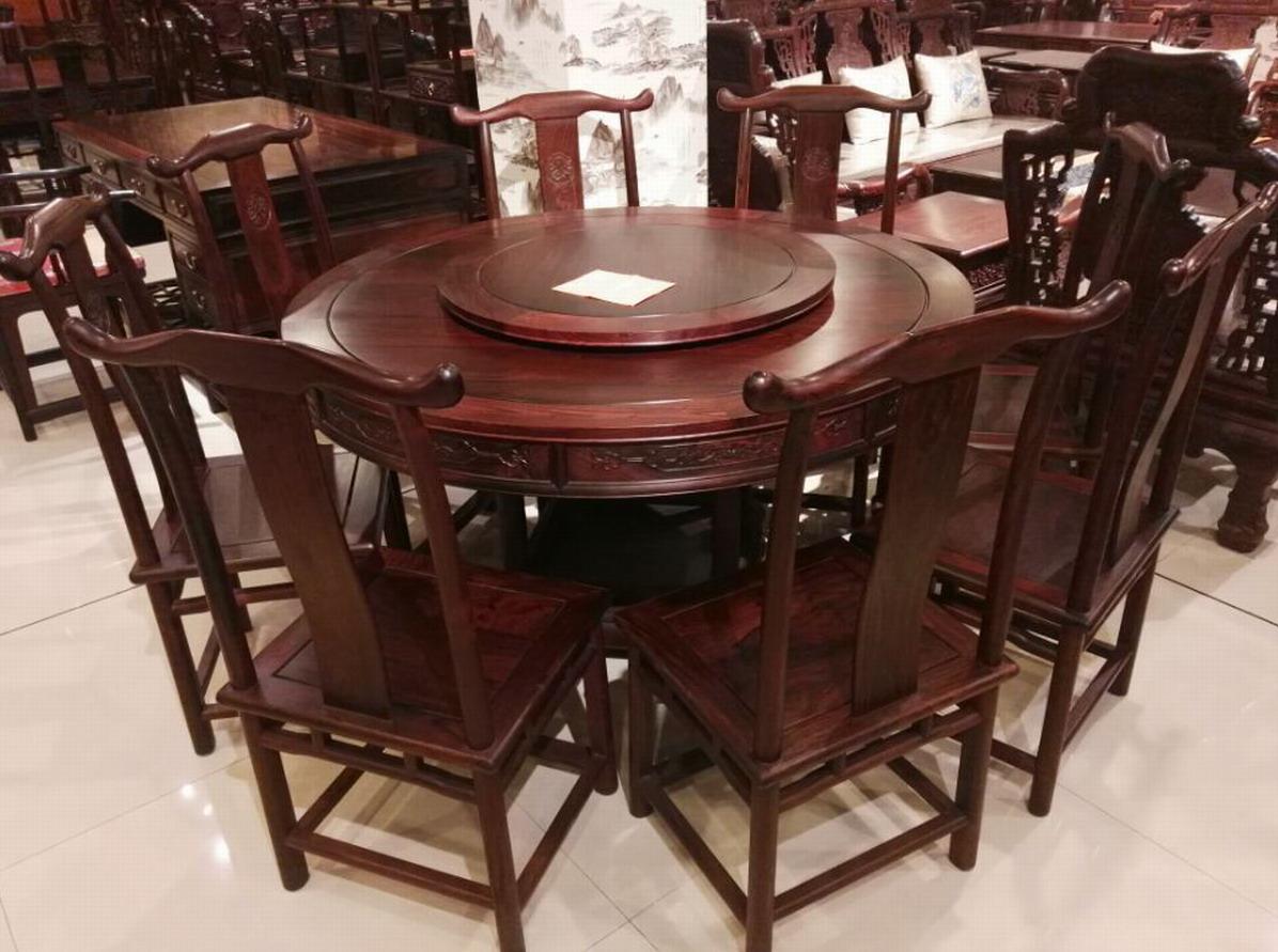 红木园餐桌图片
