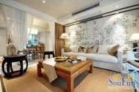 现代简约搭中式风格的小公寓 清幽淡美的装修