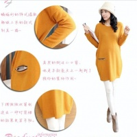 秋装新款韩国孕妇装宽松加大码胖MM时尚显瘦孕妇连衣裙