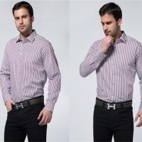 热卖款 戈劳恪斯纯棉精品休闲修身衬衫 双口袋男士格子衬衫
