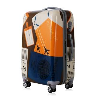 新款航空图案时尚PC旅行箱拉杆箱万向轮