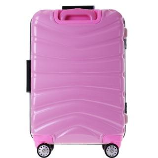 新款横条铝框时尚PC旅行箱拉杆箱万向轮