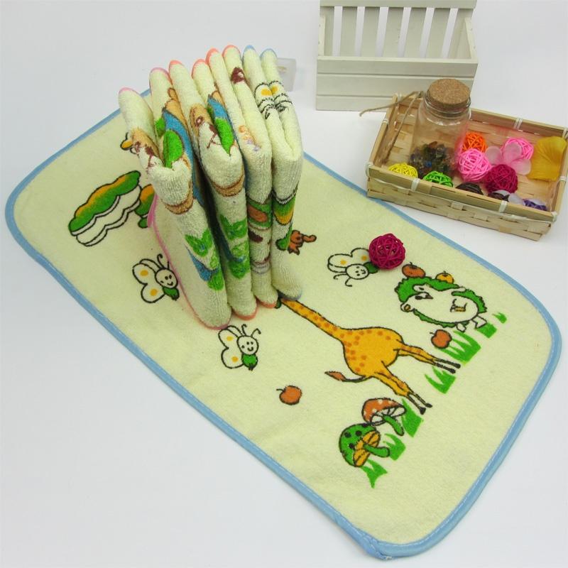 纯棉全棉小毛巾 卡通图案 宝宝儿童小毛巾 面巾口水巾