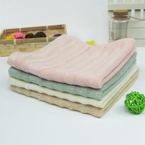 竹纤维毛巾 吸水毛巾 婴儿小方巾竹炭儿童小毛巾 比纯棉好