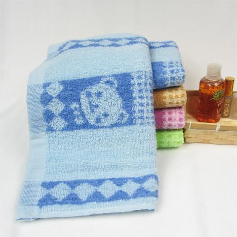 摸摸熊纯棉面巾 全棉吸水毛巾 赠品礼品 福利劳保 卡通小熊 6307