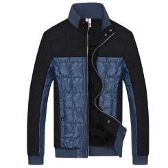 冬季新款男棉衣 韩版修身男式棉服 撞色拼接保暖棉衣男装