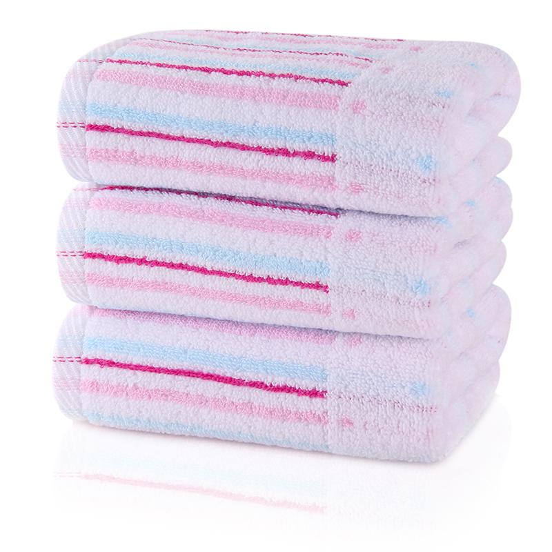 无捻彩条毛巾