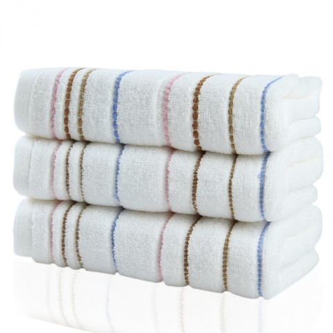 无捻多彩缎纯棉毛巾