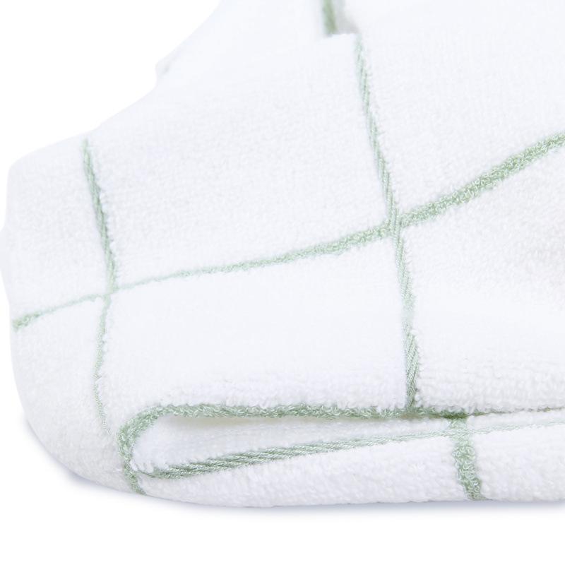 方格竹纤维毛巾