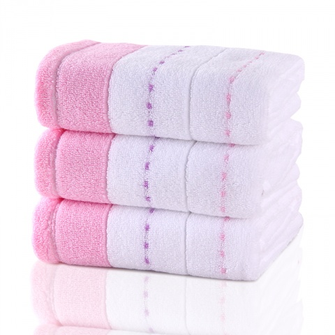 色织缎点纯棉毛巾
