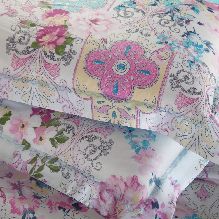 活性印花工艺床上用品40天丝四件套--艾米