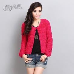 新款女式针织毛衣外套