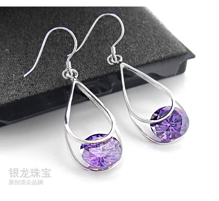 紫晶水滴耳环_07