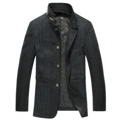 冬装新款毛呢风衣时尚修身商务休闲男装呢子 男士呢子外套潮