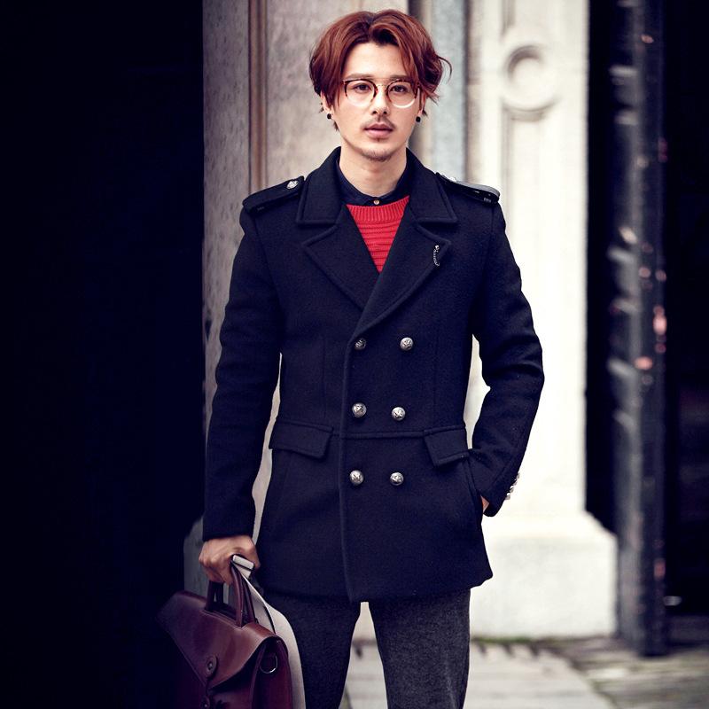 新品肩章设计英伦大气时尚保暖男式风衣