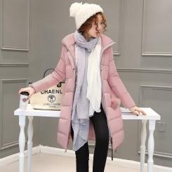 羽绒服时尚修身宽松优雅长袖拉链 冬季
