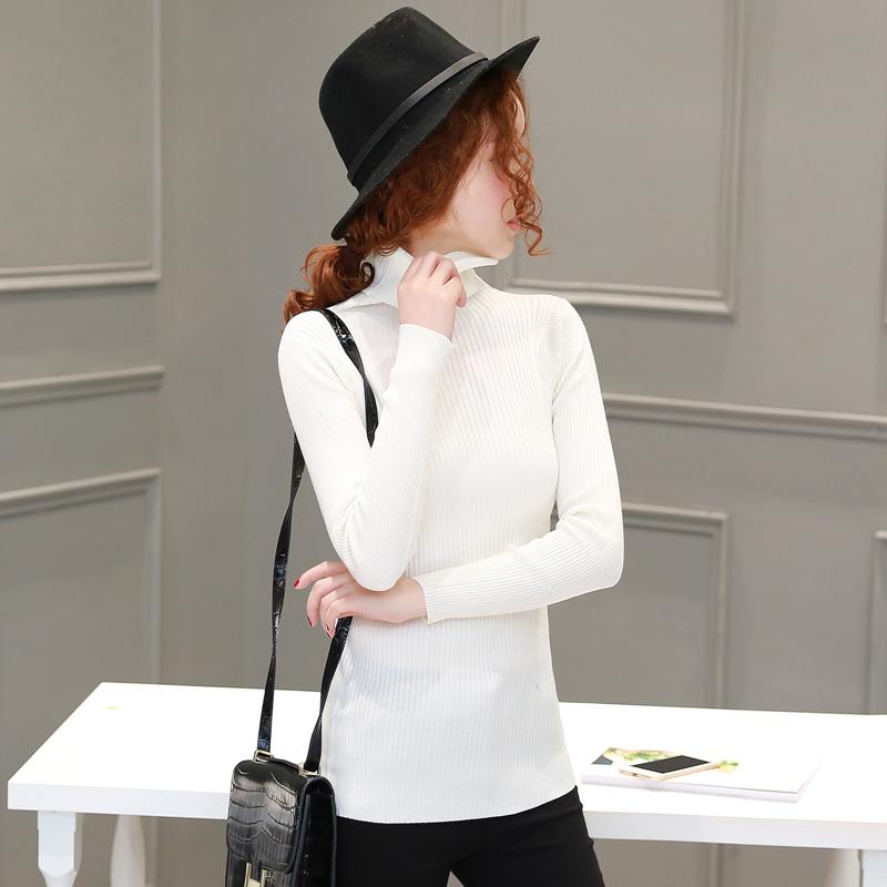 冬季针织衫/毛衣长袖圆领显瘦优雅宽松