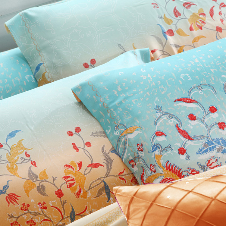 活性印花工艺床上用品40天丝四件套-维诺