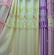 绗花窗帘布
