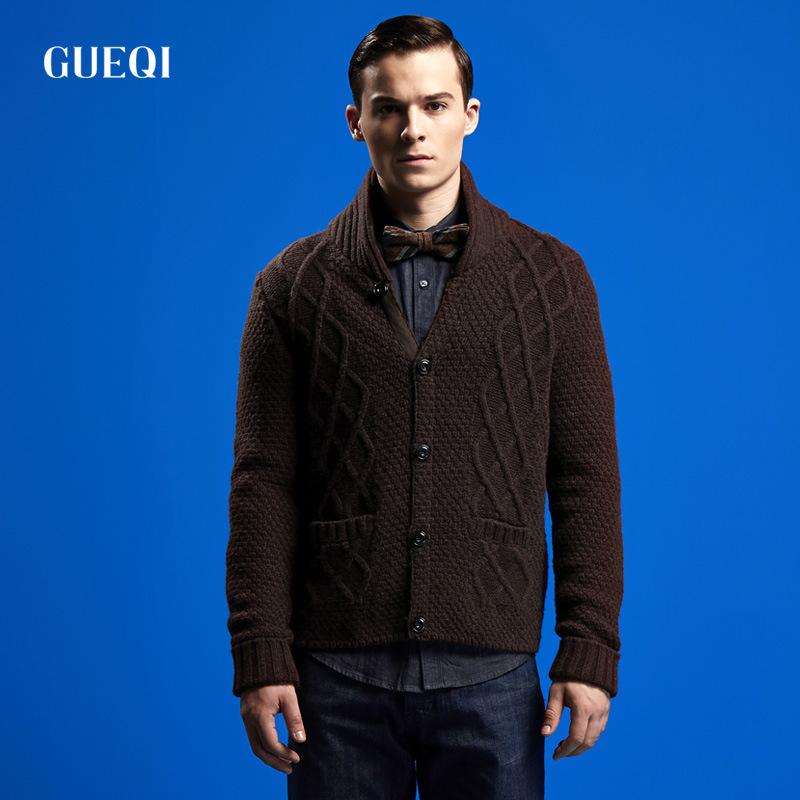 纯色保暖含羊毛70% 冬款开衫羊毛衫