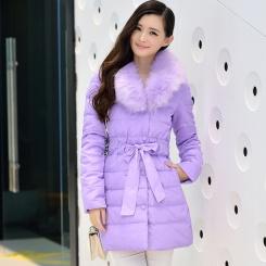 冬季新款羽绒服女款 韩版中长款狐狸毛