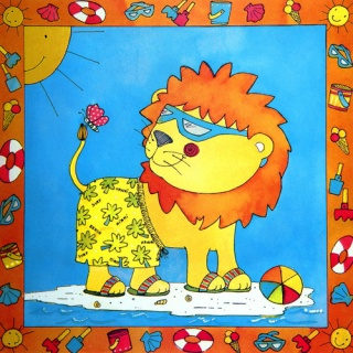 必画卡通儿童房无框画客厅卧室装饰画照片墙系列壁画