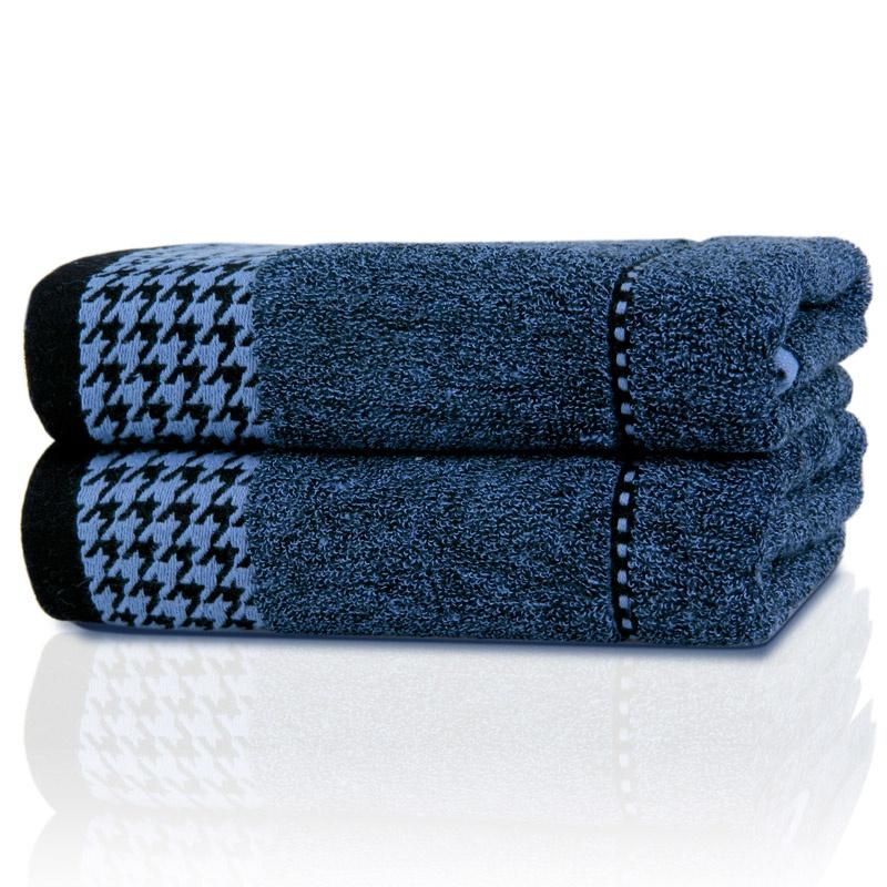 千鸟格竹纤维AB纱毛巾