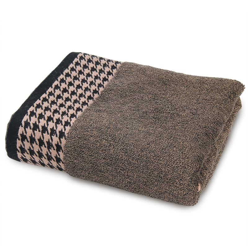 千鸟格竹炭纤维浴巾