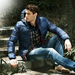 时尚立领修身保暖男装棉衣外套