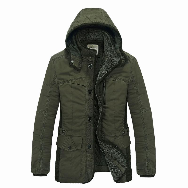 新款棉衣男式冬装外套 男中长款加厚商务棉服批发棉袄爆款