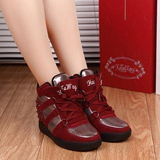 时尚气质粗跟扁头爆款亮片鞋