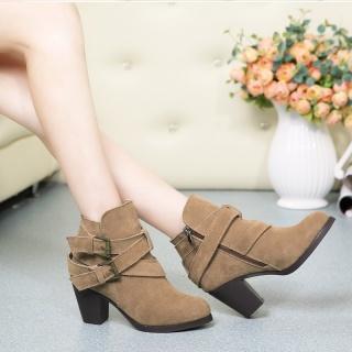 新冬款头层牛皮磨砂时尚保暖品牌高端女鞋