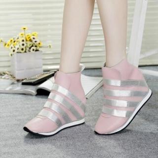 新款鞋子女真皮内增高女单鞋