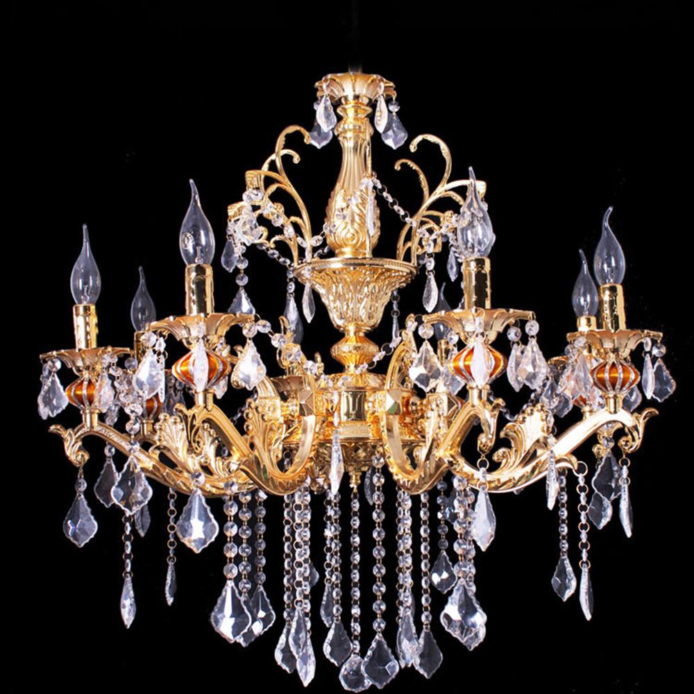 欧式水晶吊灯 锌合金蜡烛灯客厅灯具