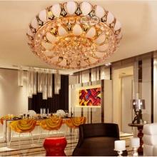 水晶灯客厅 金色灯具