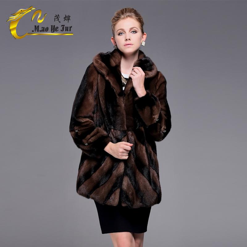 冬季新款品牌女装中长款皮草外套合体防潮貂毛大衣女