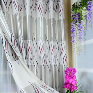 遮光光条条纹窗帘布