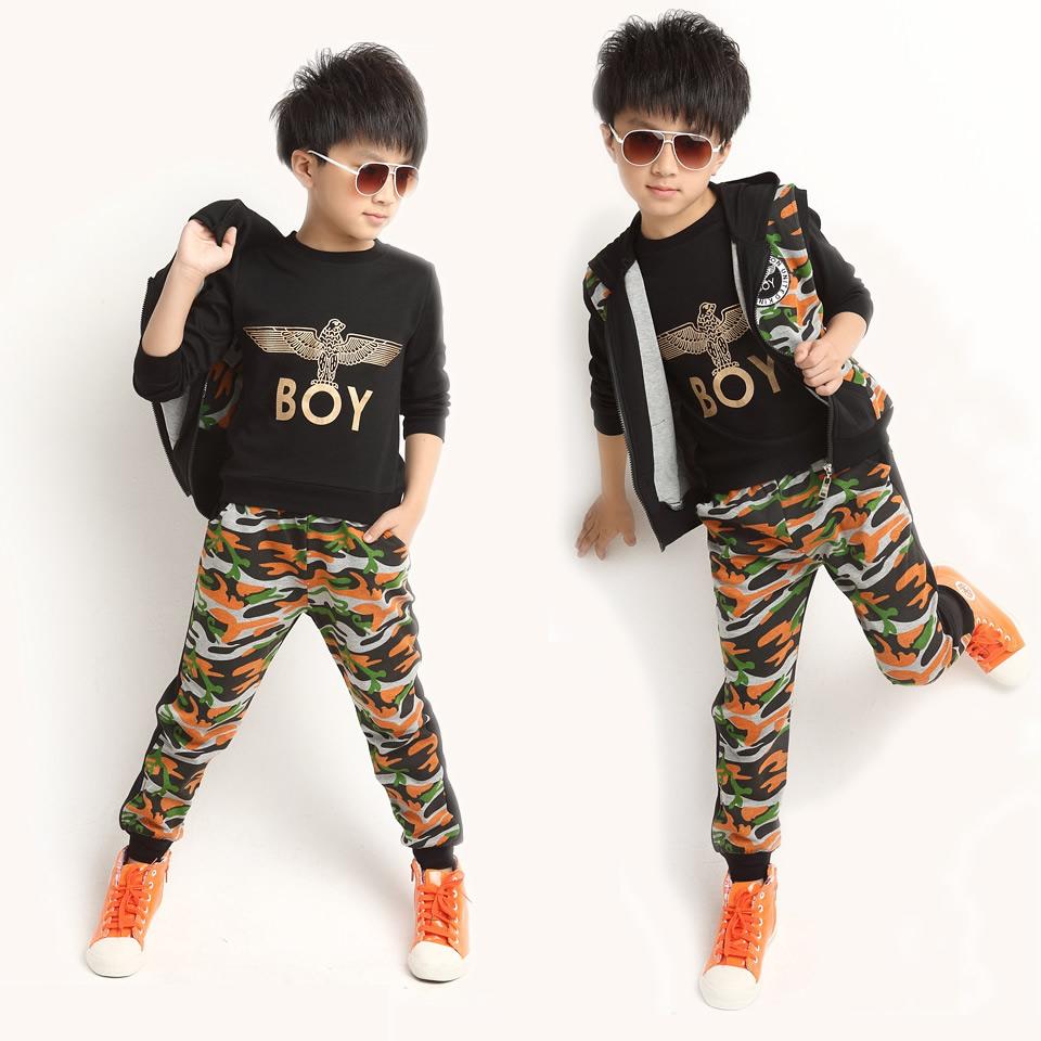 男童休闲服饰儿童军套装迷彩服