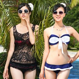 韩版钢托聚拢胸比基尼罩衫三件套女游泳衣bikini温泉显瘦泳装