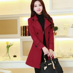 秋冬女装新款韩版修身毛呢外套女中长款呢子大衣羊绒上衣高档