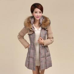 新款如弈同款 女士羽绒服女款中长款韩版修身