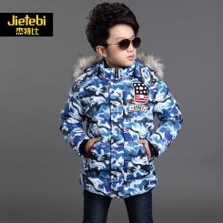 新韩版儿童毛领棉袄加厚