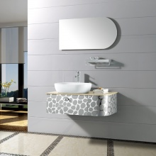 清新时尚美观 镜面/置物架/主柜 浴室柜组合