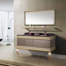 高档大气美观 双洗脸盆 浴室柜组合