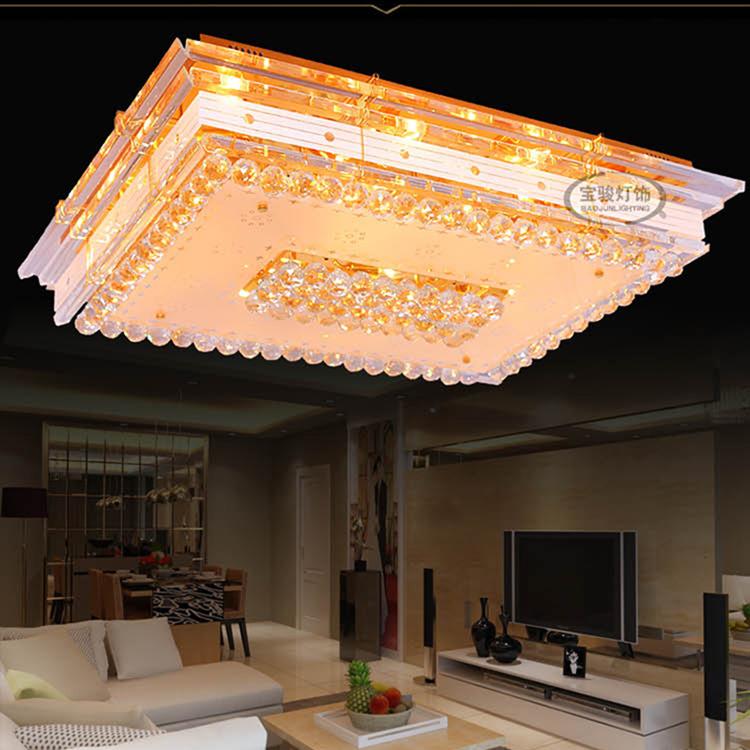 长方形吸顶灯水晶灯客厅照明灯具