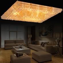 方形 吸顶灯 led长方形客厅水晶灯