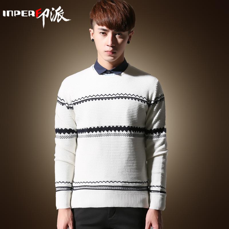 印派 秋冬新款男式毛衣 男毛衣 羊毛衫 韩版男士外套
